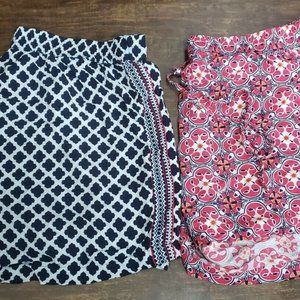 Set of Two Women's Crown And Ivory Shorts Size 1X